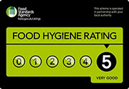 The Chipped Potato has a Food Hygiene rating of 5